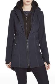 french connection zip out hooded softshell coat clothing wish
