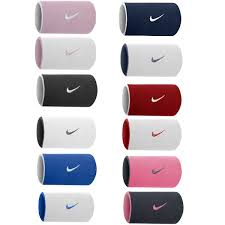 sweat bands nike reversible swoosh doublewide wristbands tennis squash