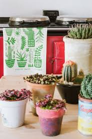 Kitchen Cactus Curious Cacti Tea Towel Mellybee