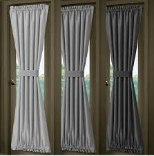 Curtain Door Panels Solid Silver Gray Or Charcoal Gray French Door Curtain Panels