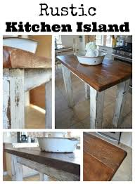 Rustic Kitchen Island Table Rustic Kitchen Island Little Vintage Nest