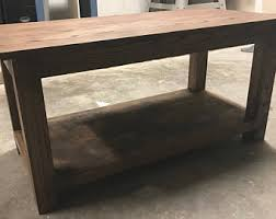 oak coffee table etsy