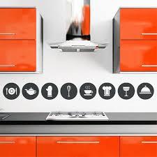 stickers pour cuisine lot de 8 stickers pour cuisine thème ustensiles et accessoires