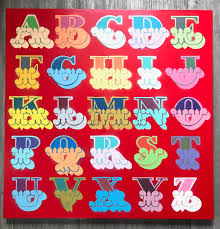 circus alphabet red by ben eine signed original hang up