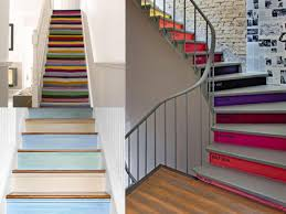 painted stair ideas home design ideas