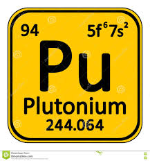 periodic table element plutonium icon stock illustration image