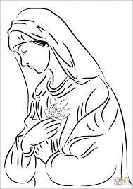 printable coloring pages virgin mary