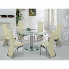 Round Glass Dining Table For 6 Awesome Pertaining To 1 Ege Sushi