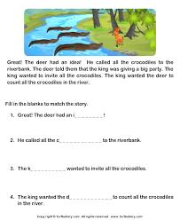 reading comprehension grade 1 worksheets read comprehension deer and crocodiles and answer the questions