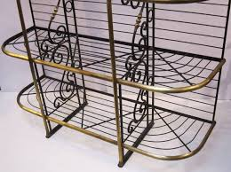 Inexpensive Bakers Rack Ideas Wrought Iron Bakers Rack For Inspiring Best Material Of