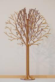lasercut wooden tabletop tree 2