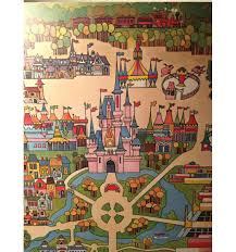 Walt Disney World Maps by Rare Original 1971 Walt Disney World Map Wall Art From Polynesian