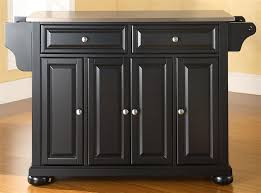 black kitchen island with stainless steel top buy alexandria stainless steel top kitchen island in black