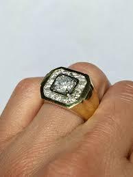 ring for men design big sale 18k real gold men s diamond ring men s