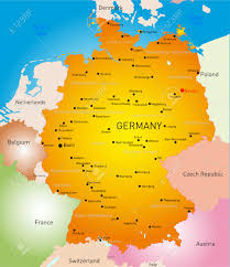 Map Of Belgium And Germany Vector Detailed Map Of Germany Country Royalty Free Cliparts