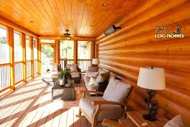 golden eagle log homes log home cabin pictures photos screened porch interior