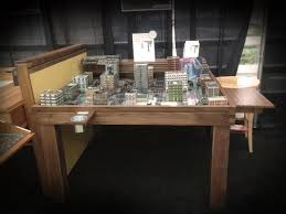geek chic gaming table geek chic on twitter drop zone commander set up in the minimalist