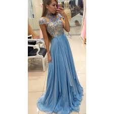 light blue formal dresses rhinestone evening dresses light blue a line princess prom dresses