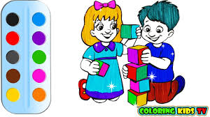 coloring pages for kids and boy drawing for children