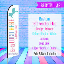 Custom Feather Flags Llr White Stop N Shop 16ft Feather Flag Llr Custom Sign