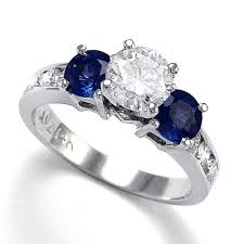 diamond rings sapphires images Anzor jewelry 14k white gold sapphire diamond engagement ring jpg