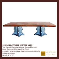 dining tables arhaus copper table care wax for copper table