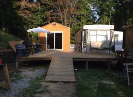 Tiny House Deck by 384 Sq Ft Shed Converted Into Tiny Home For 11k