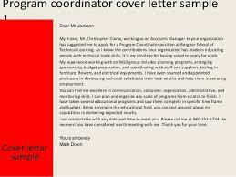 program coordinator cover letter cover business letterhead