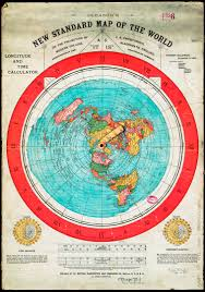 Flat Map Of World by Flat Earth Gleason U0027s New Standard Map Of World 1892