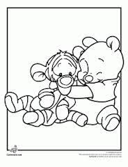 winnie pooh coloring pages baby kids activities