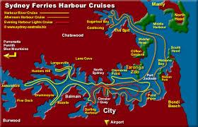 cruises to sydney australia sydney harbour map info cruises where to go