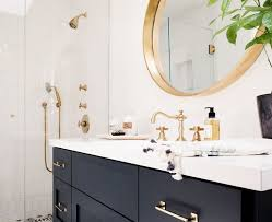 gold bathrooms navy bathrooms the new black pivotech