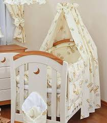 Cot Bed Canopy New Baby Cotton Fabric Canopy Drape Holder For Nursery Cot