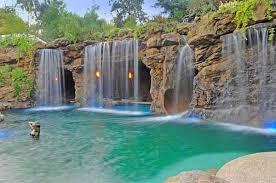 pools with waterfalls pools with waterfalls design decorating