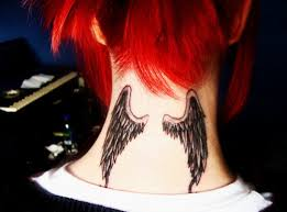 tattoo angel wings on neck wing tattoos 125 angel wing tattoos that are heavenly