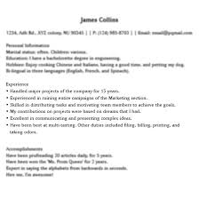 funny things people put on their resume