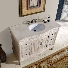 silkroad exclusive 48 inch bathroom vanity cream marfil counter top