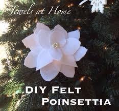 felt poinsettia ornaments jewels at home
