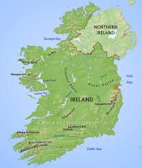 physical map of ireland mountains ireland map