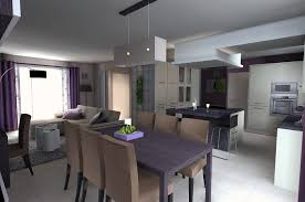 salon cuisine idee deco salon salle a manger cuisine photo decoration 07182305