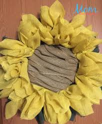 burlap sunflower wreath diy sunflower burlap wreath craft