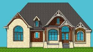 Luxury Bungalow Designs - 4 bedroom luxury bungalow house floor plans architectural design 1