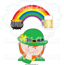 pot of gold at the end of the rainbow clipart 37
