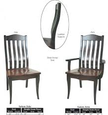 Lumbar Support Chairs This Amish Dining Chair Furniture Oak Lumbar Support Back Side And