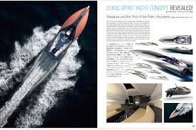 lexus sport yacht vol 12 may 2017 car styling