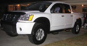 white nissan 2004 n fab and bushwacker flares on white nissan titan forum