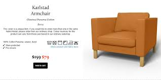 karlstad chair cover my style republic give your ikea future new at outlet prices