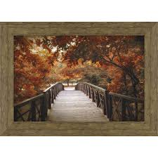 shop wall art at lowes com 43 5 in w x 31 5 in h framed plastic landscapes print wall art