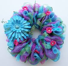 crafted summer mesh wreath by dyjo designs custommade