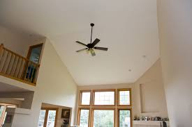 living room ceiling fan home design ceiling fan in vaulted livingroom home remodeling